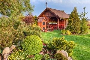 Beautiful summer garden.