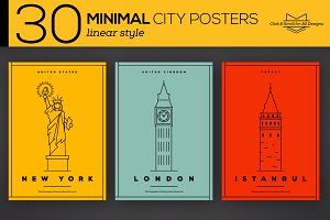 30 Minimal City Posters