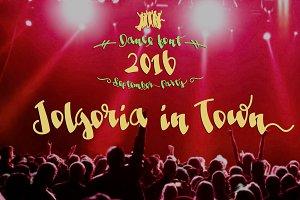 Jolgoria in Town -festive font-