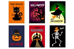 Set of Halloween Cards