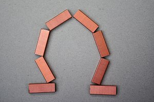 copper staples vault key
