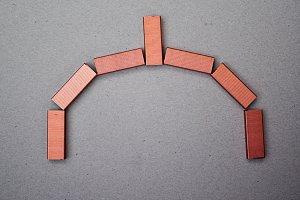 copper staples horseshoe arch
