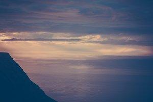 Ocean Sunset #02 (Old Film Series)