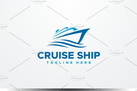 Ship Logo Logo Templates Creative Market - Cruise ship logos