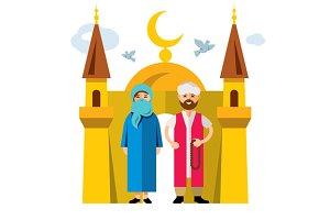 Muslim family and Islam