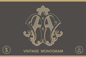 AM Monogram MA Monogram