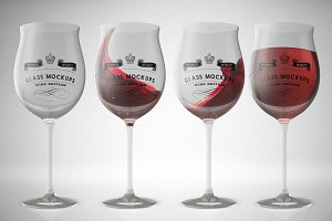 Glass Mockup - Wine Glass Mockup 12