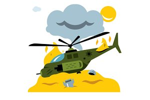Combat helicopter crash
