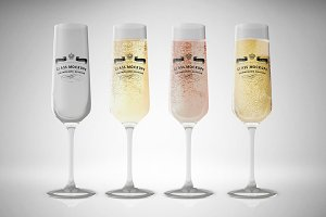 Glass Mockup - Champagne Glass