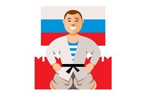 Russian Man humor concept