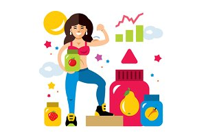 Sports nutrition and Girl