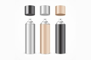 Aluminium Spray Can Template Blank