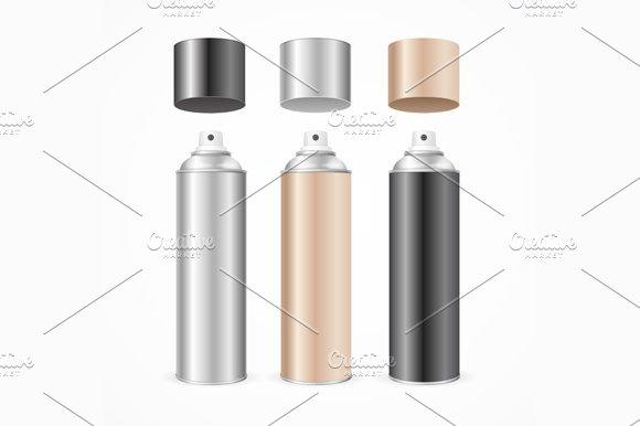 Aluminium Spray Can Template Blank