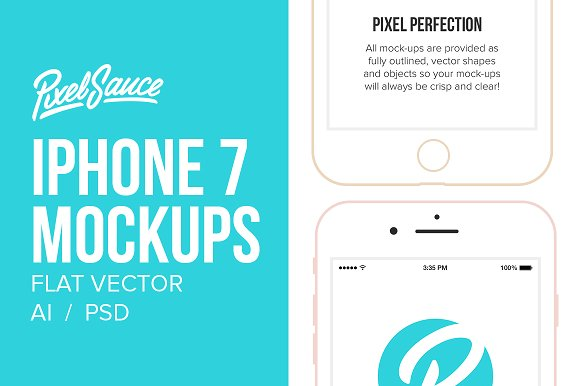 Download Flat iPhone 7 & 7+ Mock Up