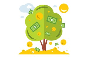 Money Tree. Successful business