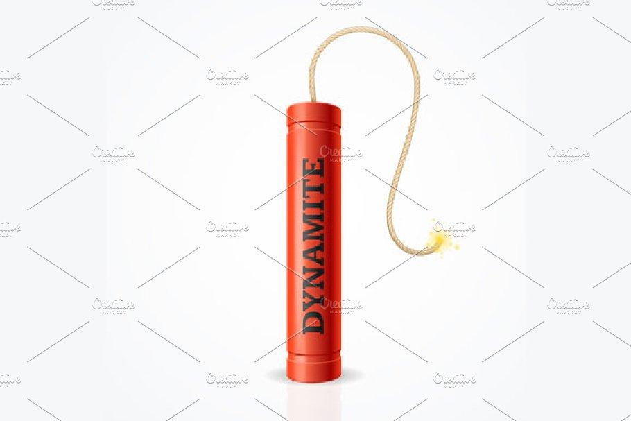 Detonate Dynamite Bomb Set. Vector