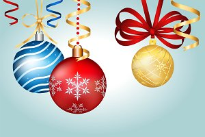 Vintage vector Christmas balls