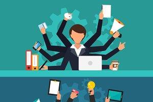 Office job stress work vector