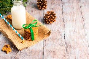 Winter milk and cookies