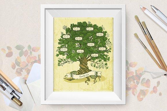 Genealogical tree on old paper