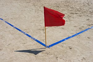 red flag and the blue line