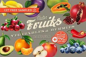 Vector Fruits & Berries