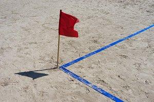 Angle playground on the beach