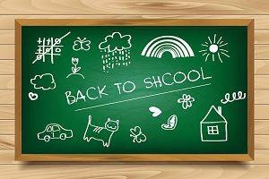 School green board set.