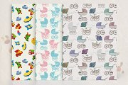 Set of seamless patterns with buggy
