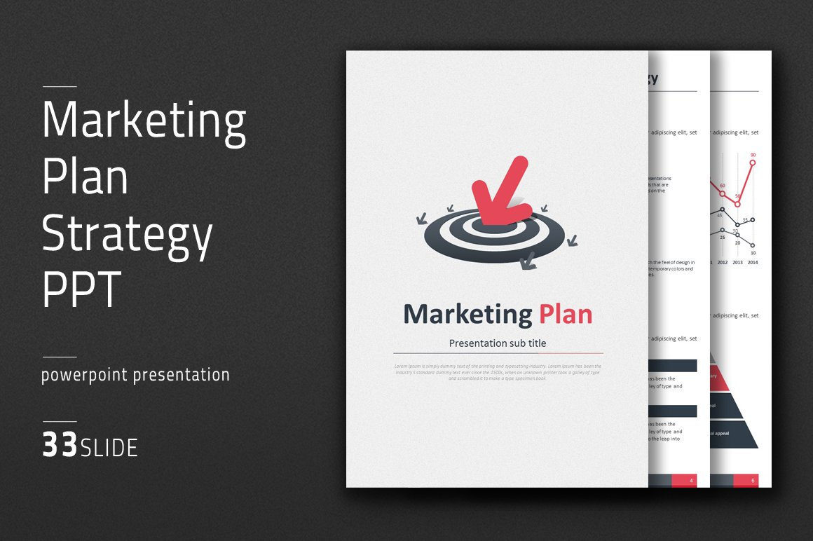 Marketing Plan Strategy PPT Vertical ~ Presentation Templates ...