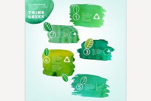 Watercolour Eco Infographic