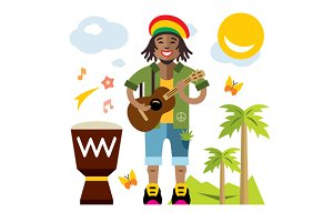 Rastafarian. Reggae Artist