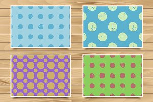 Polka dot vintage patterns.