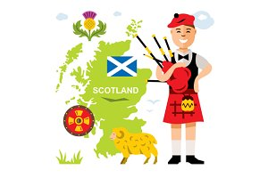 Scotland travel concept
