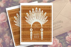 Thanksgiving day greeting card.