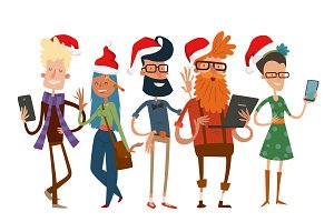 Business people Christmas vector