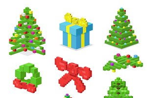 Christmas deoration symbol 3d vector