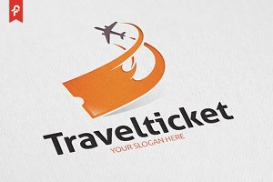 Travel Ticket Logo