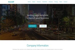 Colander – Multipurpose Landing Page