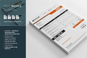 Price Invoice Template