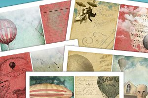 Steampunk Air Balloon Journal Kit