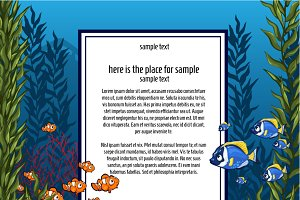 Marine life and card for text
