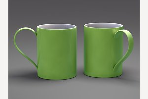 Light Green Mugs