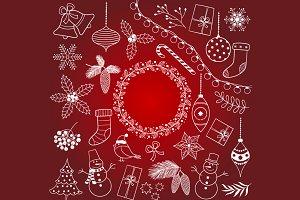 Doodle White Christmas Set