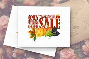 Thanksgiving day sale sticker