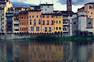 Sunset by the river. Florence