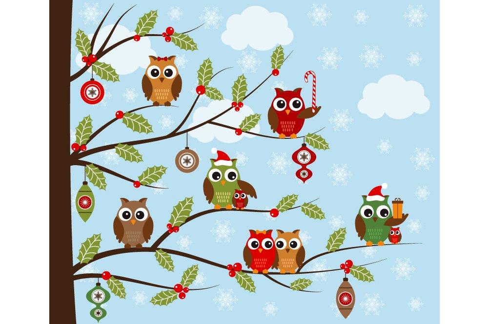 Christmas Owls Clip Art ~ Illustrations ~ Creative Market