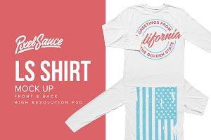 Basic Longsleeve T-Shirt Mockup