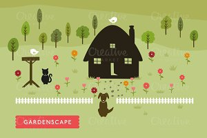 Vector GardenScape Illustration