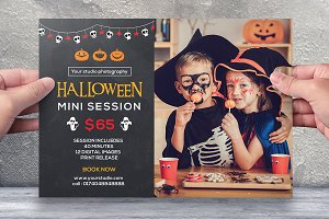 Halloween Mini Session Template-V386